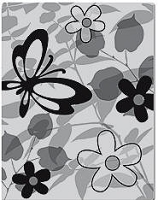 Hero Arts Cling Stamp - Lauderdale-Floral Background(Basic Grey)