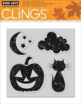 Hero Arts-Cling Rubber Stamp-Halloween Moon