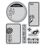 Hero Arts Cling Stamp (for BG)-Picadilly-Sunflower