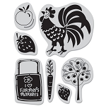 Hero Arts Cling Stamp (for BG)-Picadilly-Farmers Market