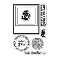 Hero Arts - Studio Calico - Clear Stamps - Abroad - Wonderful World Stamp