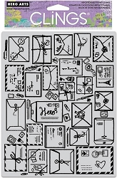 Hero Arts - Cling Rubber Stamp - Mail Jumble Background