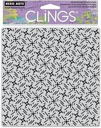 Hero Arts - Cling Rubber Stamp - Star and Line Bold Prints