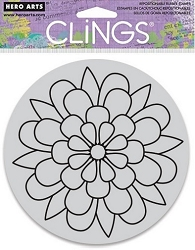 Hero Arts - Cling Rubber Stamp - Color Me Outline Bloom