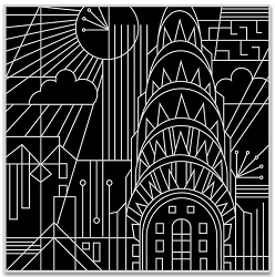 Hero Arts - Cling Rubber Stamp - Deco In The City Bold Prints