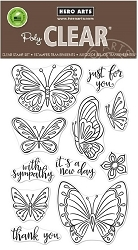 Hero Arts - Clear Stamp - New Day Butterflies