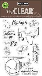 Hero Arts - Clear Stamp - Fly High Animals
