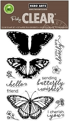 Hero Arts - Clear Stamp - Color Layering Monarch Butterfly