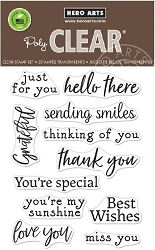Hero Arts - Clear Stamp - Hero Greetings Sending Smiles
