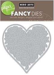 Hero Arts - Fancy Die - Paper Layering Floral Heart Die
