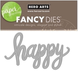 Hero Arts - Fancy Die - Happy Message Fancy Die