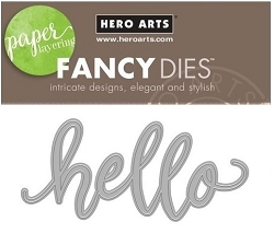 Hero Arts - Fancy Die - Hello Message Fancy Die