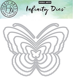Hero Arts - Fancy Die - Nesting Butterflies Infinity Die