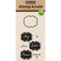 Hero Arts - Stamp & Cut - Joy Tags