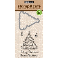 Hero Arts - Stamp & Cut - Christmas Tree