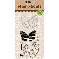 Hero Arts - Stamp & Cut - Butterflies