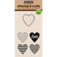 Hero Arts - Stamp & Cut - Hearts