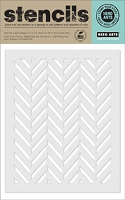 Hero Arts - Stencils - Tweed Pattern