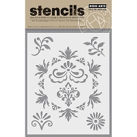 Hero Arts - Stencil - Flourish Elements
