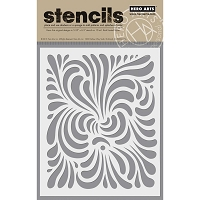 Hero Arts - Stencil - Swirl