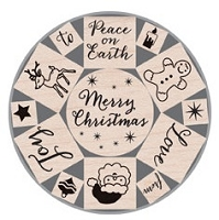 Hero Arts - Wood Mounted Rubber Stamp Tin - Merry Christmas :)