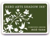 Hero Arts - Shadow Ink - Mid Tone - Dye Pad - Forever Green :)