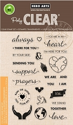 Hero Arts - Clear Stamp - Support Prayers Love