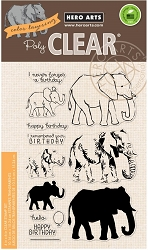 Hero Arts - Clear Stamp - Color Layering Elephant