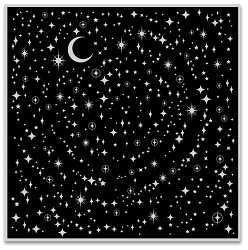 Hero Arts - Cling Rubber Stamp - Star Light Star Bright Bold Prints