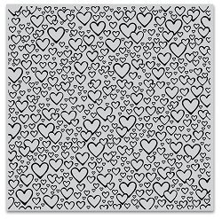 Hero Arts - Cling Rubber Stamp - Bursting With Love Bold Prints