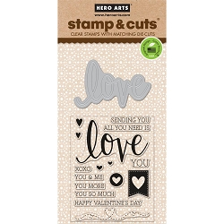 Hero Arts - Stamp & Cut - Love Stamp & Cut