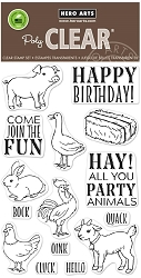 Hero Arts - Clear Stamp - Hay Party Animals