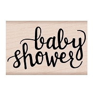 Hero Arts - Wood Mounted Rubber Stamp - Baby Shower