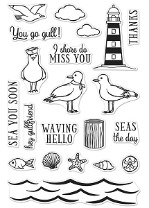 Hero Arts - Clear Stamp - Seas The Day Seagulls
