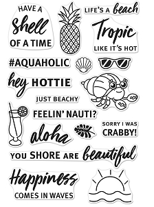 Hero Arts - Clear Stamp - Beach Messages