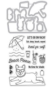 Hero Arts - Stamp & Cut - Beach Please Stamp & Cut