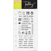 Hero Arts - Clear Stamp - Kelly Purkey Fitness Planner