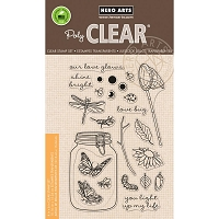 Hero Arts - Clear Stamp - Mason Jar Bugs