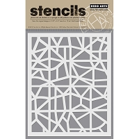 Hero Arts - Stencil - Map Grid
