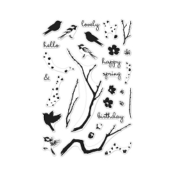 Hero Arts - Clear Stamp - Color Layering Birds & Blossoms