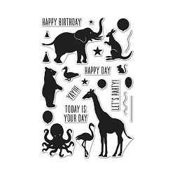 Hero Arts - Clear Stamp - Birthday Animal Silhouette