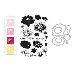 Hero Arts - Stamp, Die & Ink Kit - Color Layering Water Lilies Bundle