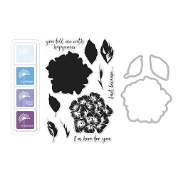 Hero Arts - Stamp, Die & Ink Kit - Color Layering Hydrangea Bundle