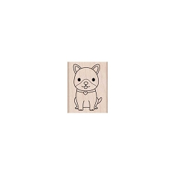 Hero Arts - Wood Mounted Rubber Stamp - Excited Puppy
