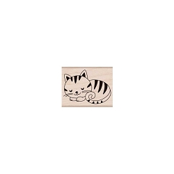 Hero Arts - Wood Mounted Rubber Stamp - Sleeping Kitty