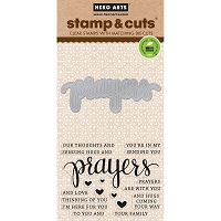 Hero Arts - Stamp & Cut - Prayers Stamp & Cut
