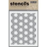 Hero Arts - Stencil - Asian Flower Pattern