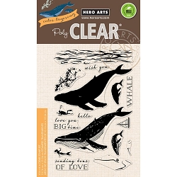 Hero Arts - Clear Stamp - Color Layering Blue Whale