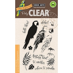 Hero Arts - Clear Stamp - Color Layering Parrot