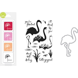 Hero Arts - Stamp, Die & Ink Kit - Color Layering Flamingo Bundle
